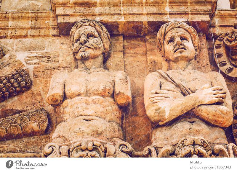 Stadtansichtdetail von Palermo-Stadt, Sizilien, Italien Stil Ferien & Urlaub & Reisen Tourismus Haus Kunst Kultur Kirche Platz Gebäude Architektur Fassade