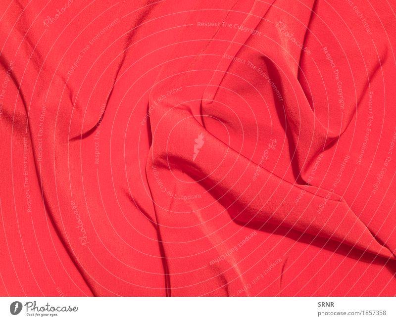 Roter Stoff Bekleidung rot Farbe Hintergrund Hintergründe Vorhang Material Rippeln Satin Seide Textil Samt winken abstrakt Muster Strukturen & Formen