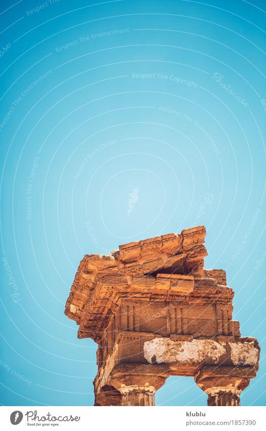 Tal der Tempel in Agrigent, Sizilien, Italien Ferien & Urlaub & Reisen Tourismus Ruine Architektur Stein alt historisch Religion & Glaube Agrigento Griechen