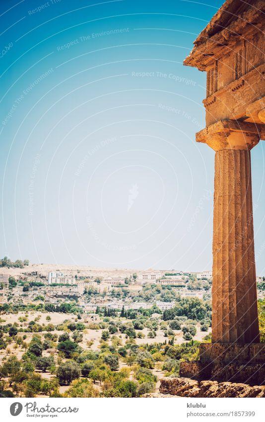 Tal der Tempel in Agrigent, Sizilien, Italien Ferien & Urlaub & Reisen Tourismus Landschaft Ruine Architektur Stein alt historisch Religion & Glaube Agrigento