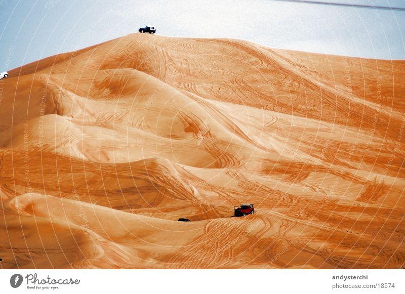 Big Red Sand Wüste Stranddüne Dubai Geländewagen Vereinigte Arabische Emirate