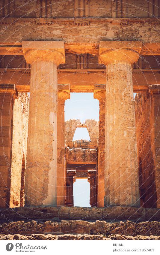 Tal der Tempel in Agrigent, Sizilien, Italien Ferien & Urlaub & Reisen Tourismus Museum Landschaft Ruine Architektur Stein alt historisch Religion & Glaube