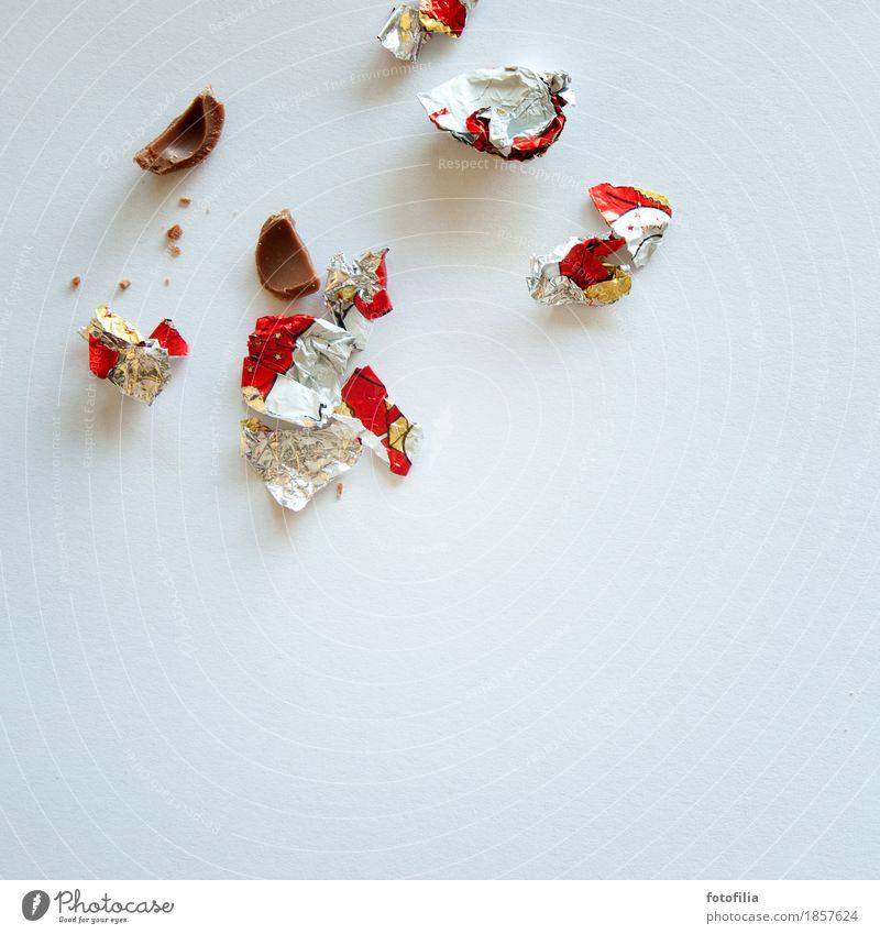 Der Rest vom Fest Süßwaren Schokolade Schokoladenweihnachtsmann Fastfood Weihnachten & Advent Weihnachtsmann Verpackung Essen Feste & Feiern Fressen genießen