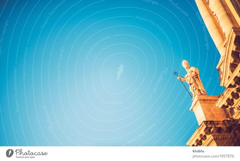 Detailansicht von Syrakus, Sizilien, Italien Himmel alt Stadt Straße Architektur Stil Gebäude Tourismus Fassade Textfreiraum Aussicht Insel Kultur Denkmal