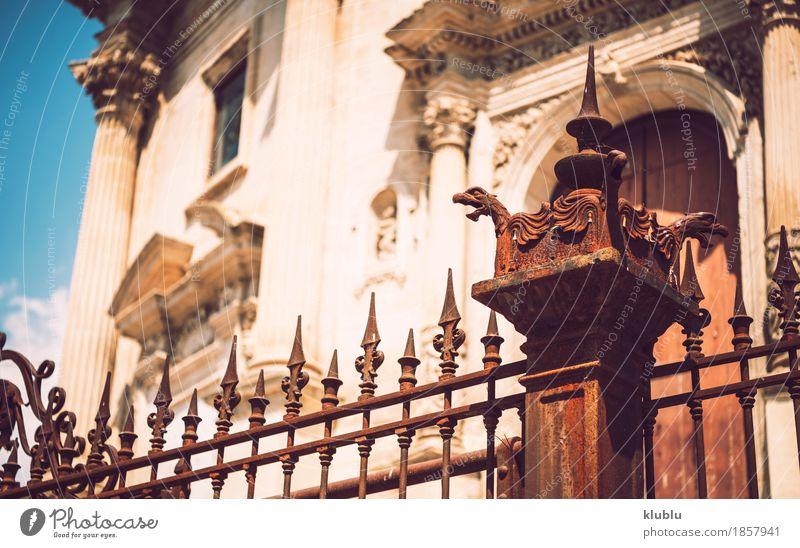 Detailansicht von Ragusa, Sizilien, Italien Kunst Kultur Stadt Kirche Gebäude Architektur Fassade Denkmal Straße alt historisch Religion & Glaube Kathedrale