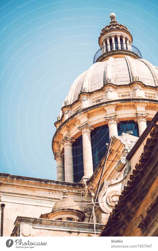 Detailansicht von Ragusa, Sizilien, Italien Kunst Kultur Dorf Stadt Kirche Gebäude Architektur Fassade Denkmal alt historisch Religion & Glaube Kathedrale