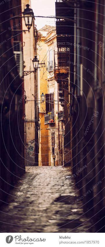 Stadtansichtdetail von Palermo-Stadt, Sizilien, Italien Stil Ferien & Urlaub & Reisen Haus Kunst Kultur Platz Gebäude Architektur Fassade Straße alt historisch