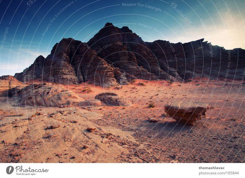 Himmel rot Berge u. Gebirge Landschaft Sand Felsen Wüste