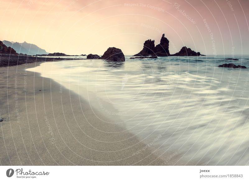 Du weißt, wohin Ferien & Urlaub & Reisen Freiheit Sommer Sommerurlaub Strand Meer Natur Wasser Himmel Horizont Schönes Wetter Felsen Küste Unendlichkeit blau