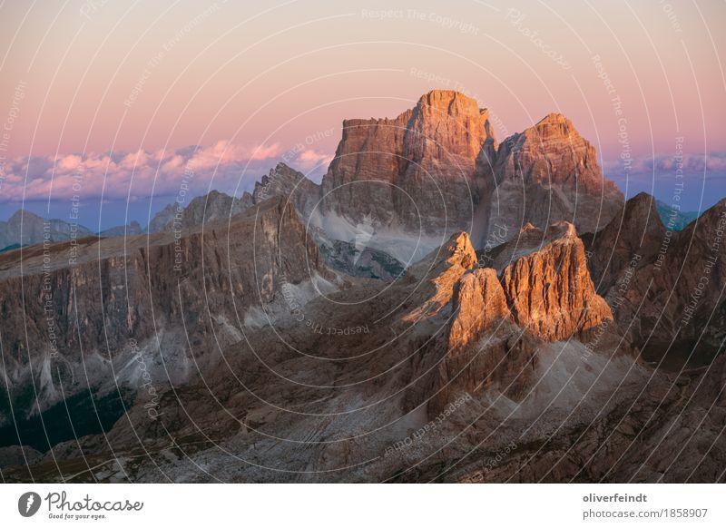 Dolomiten V Himmel Natur Ferien & Urlaub & Reisen schön Landschaft Wolken Ferne Berge u. Gebirge Umwelt Freiheit Felsen Tourismus Horizont Ausflug wandern groß