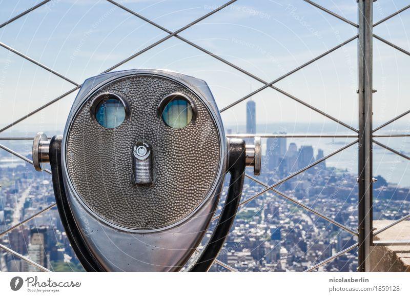 NYC (1) Himmel Ferien & Urlaub & Reisen Sommer Stadt Freude Ferne Lifestyle Freiheit oben Tourismus Freizeit & Hobby modern Hochhaus groß Schönes Wetter Neugier