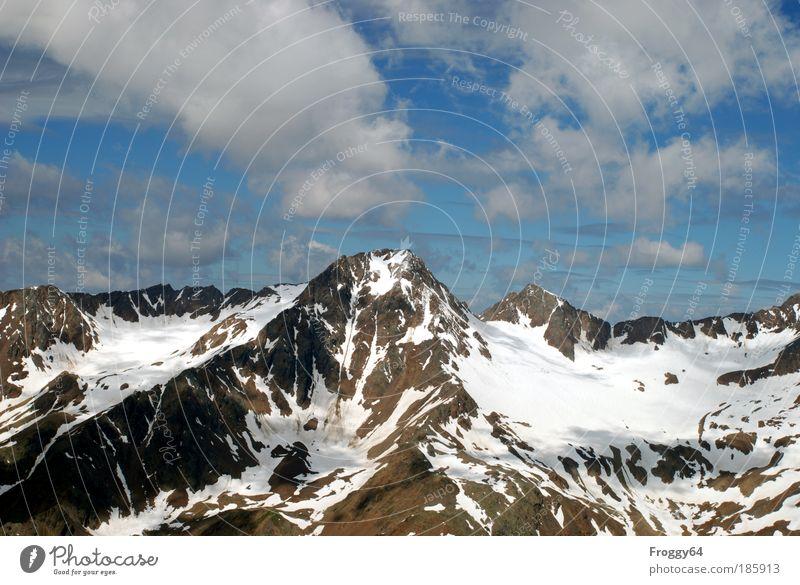 Happy Birthday, Photocase! weiß blau Sommer Ferien & Urlaub & Reisen Wolken Ferne Freiheit Berge u. Gebirge Landschaft grau Felsen Tourismus Alpen Gipfel