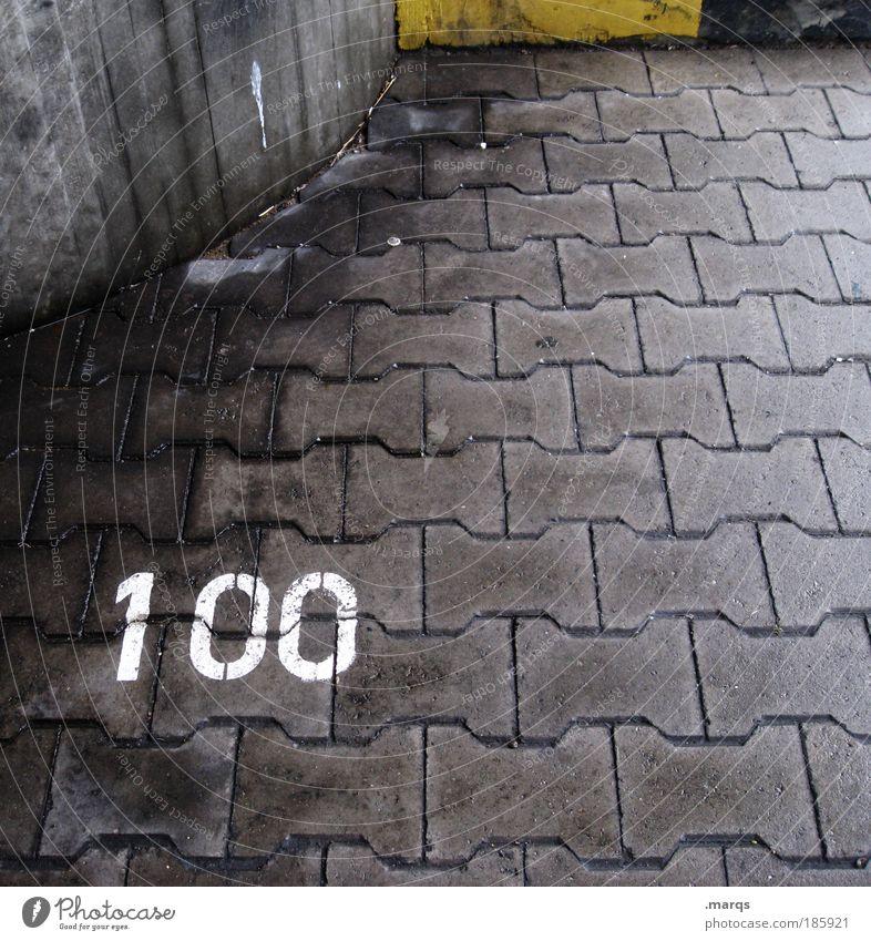 Happy Birthday, Photocase! weiß Stadt Straße dunkel grau Wege & Pfade Feste & Feiern dreckig nass Ziffern & Zahlen Verkehrswege Autofahren Parkplatz Personenverkehr 100 Jubiläum