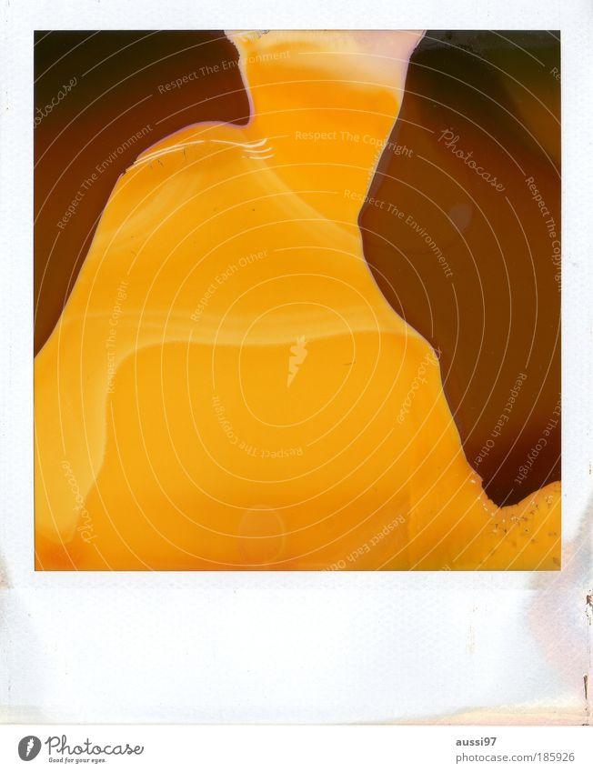 Happy birthday, photocase! gelb braun Polaroid Kunst abstrakt Kultur abgelaufen zerlaufen