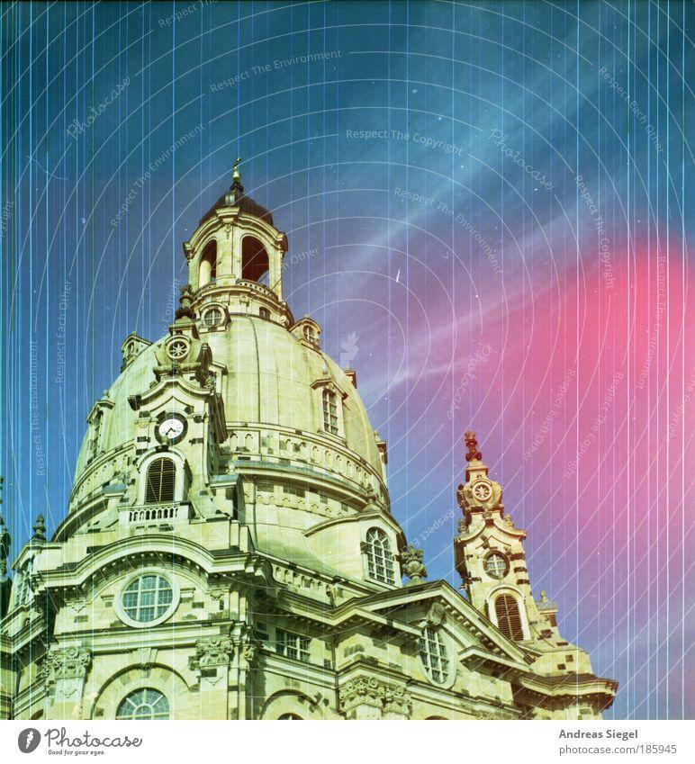 Happy Birthday, Photocase! schön Himmel Ferien & Urlaub & Reisen Gebäude Linie Architektur Ausflug ästhetisch Tourismus Kirche Turm Dresden Bauwerk historisch