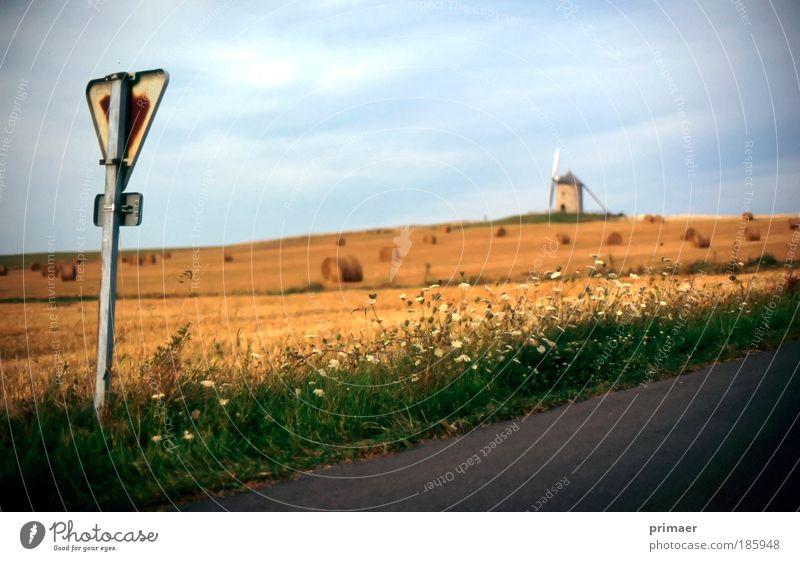 Landstraße Natur Sommer Ferien & Urlaub & Reisen ruhig Wolken Ferne Erholung Herbst Freiheit Wärme Landschaft Luft Stimmung Feld Horizont Ausflug