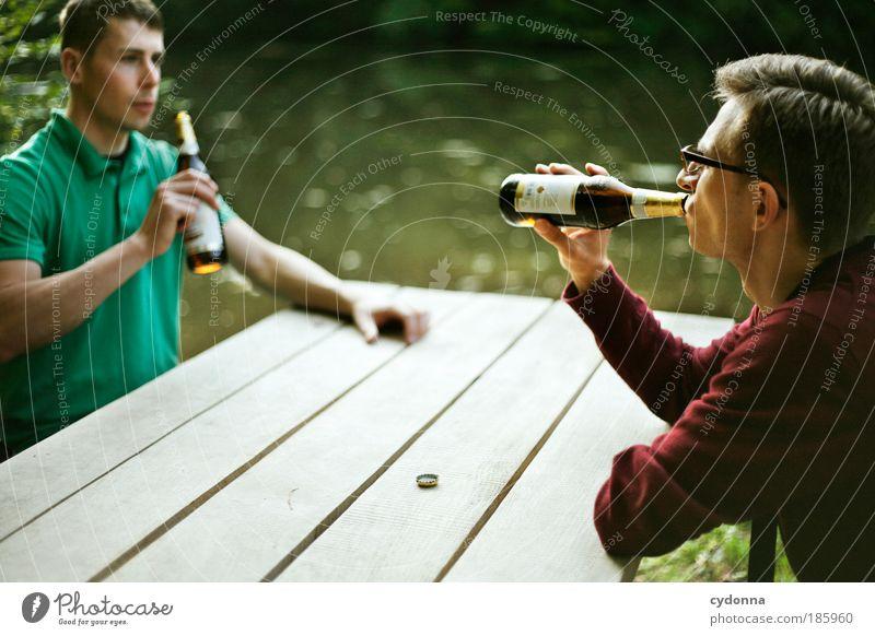 Happy Birthday Photocase! Getränk Bier Flasche Lifestyle Wohlgefühl Zufriedenheit Erholung ruhig Ausflug Freiheit Sommer wandern Mensch Mann Erwachsene