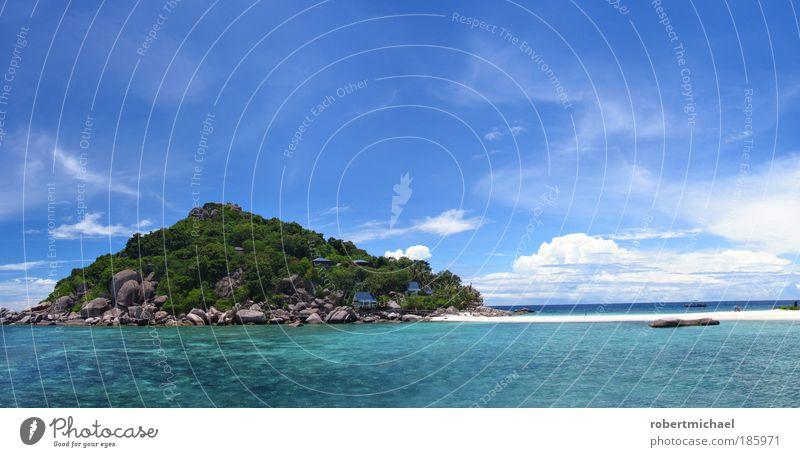 Trauminsel Himmel Natur Strand Ferien & Urlaub & Reisen Meer Erholung Glück Wellen Zufriedenheit Insel Asien Sehnsucht Reisefotografie Palme genießen