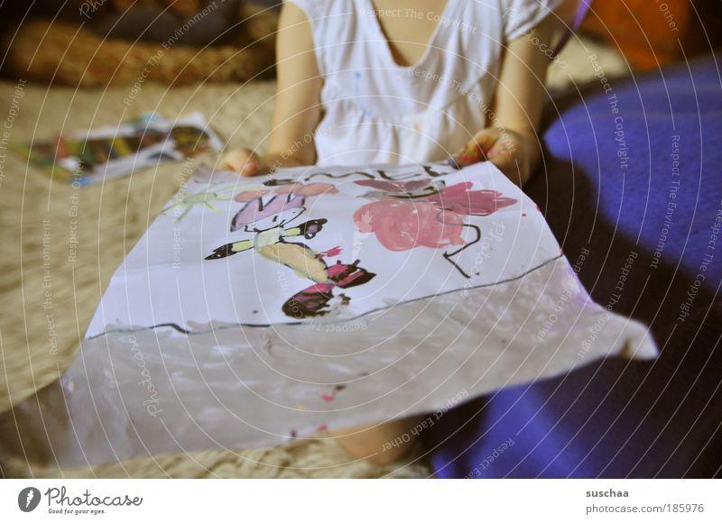 happy birthday pc .. feminin Kind Mädchen 1 Mensch 3-8 Jahre Kindheit Kunst Künstler Kunstwerk Gemälde Freude Vorfreude einzigartig Brust Arme Hand stoppen