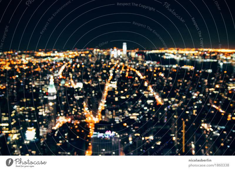 NYC (3) Ferien & Urlaub & Reisen Tourismus Ausflug Ferne Sightseeing Städtereise Häusliches Leben Nachtleben Stadt Skyline überbevölkert Gebäude Architektur
