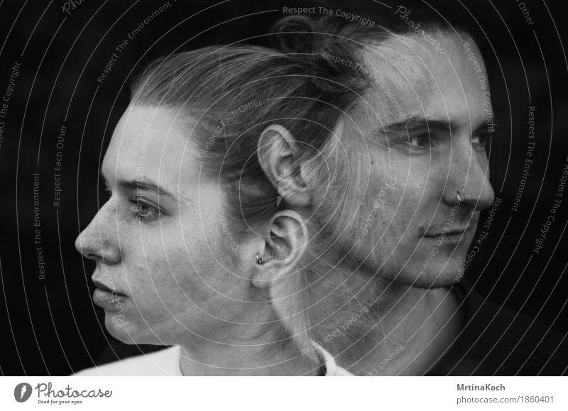 vier jahre später. Mensch maskulin feminin androgyn Junge Frau Jugendliche Junger Mann Kopf 2 18-30 Jahre Erwachsene Vorfreude Begeisterung Ehre Tapferkeit