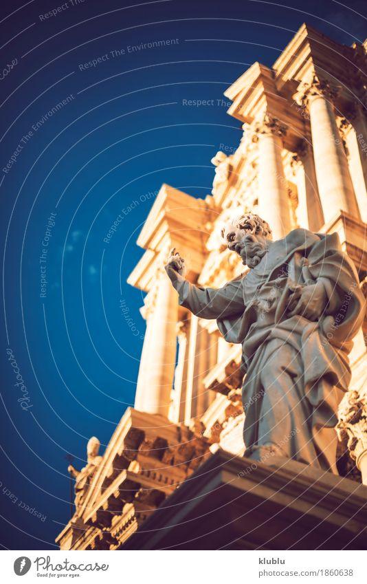 Detailansicht von Syrakus, Sizilien, Italien Stil Tourismus Kultur Himmel Stadt Gebäude Architektur Fassade Denkmal alt siracusa Italienisch Griechen monumental