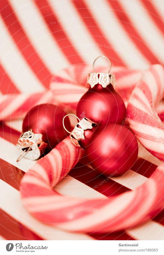 American Christmas Weihnachten & Advent schön weiß rot Stil Feste & Feiern glänzend Lebensmittel Design Lifestyle Kitsch Dekoration & Verzierung Streifen