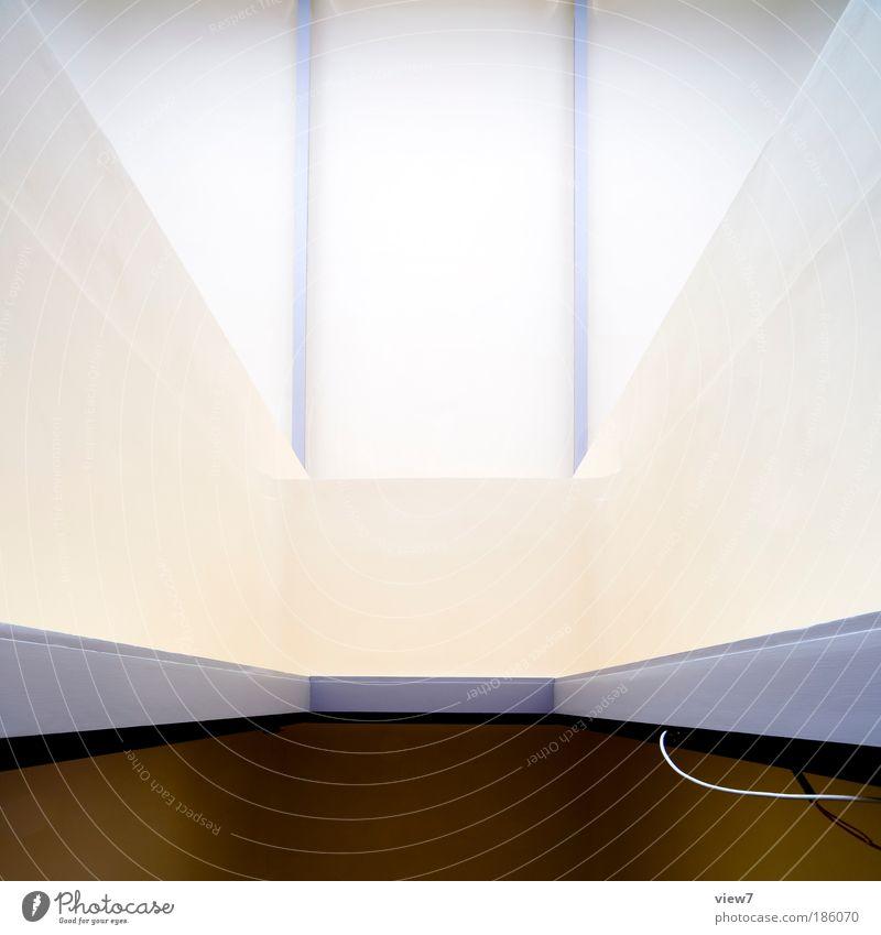 zentral weiß Haus Ferne kalt Wand oben Holz Stein Mauer Linie Design elegant hoch Fassade modern Ordnung