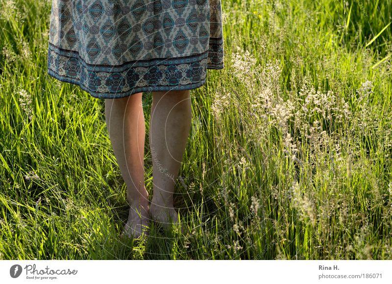 Der nächste Sommer kommt bestimmt ! Natur Jugendliche Mädchen schön Sonne grün Pflanze Sommer Freude Wiese feminin Gefühle Gras Glück Landschaft Beine
