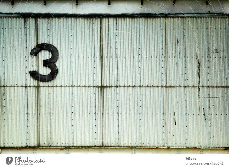 3 weiß schwarz grau Metall dreckig Architektur Hintergrundbild verrückt Technik & Technologie Coolness nah Ziffern & Zahlen fest Zeichen Informationstechnologie