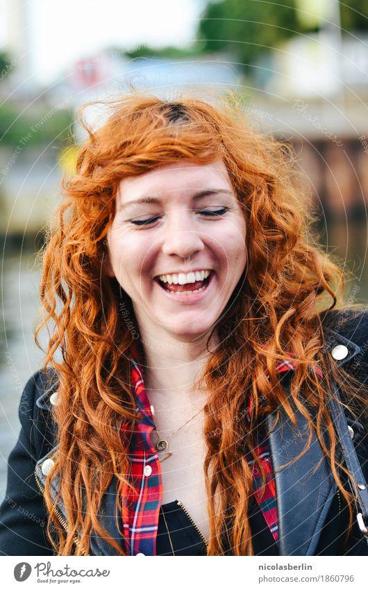 MP108 - NYC (7) Mensch Ferien & Urlaub & Reisen Jugendliche schön Junge Frau Freude 18-30 Jahre Gesicht Erwachsene Leben feminin lachen Glück Freiheit