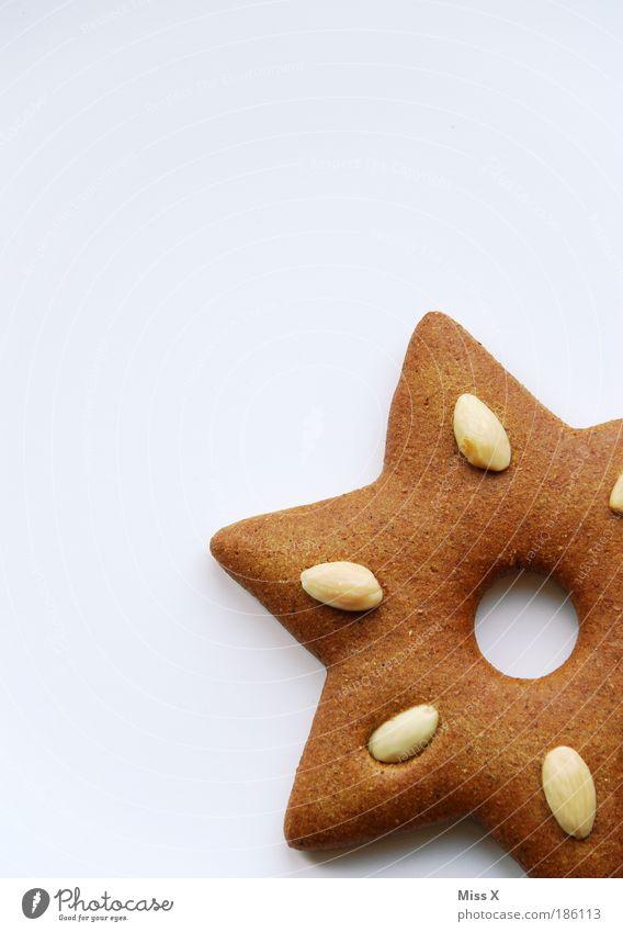 Stern Lebensmittel Teigwaren Backwaren Süßwaren Ernährung eckig schön klein lecker süß Duft Lebkuchen Stern (Symbol) Mandel Weihnachtsdekoration Plätzchen