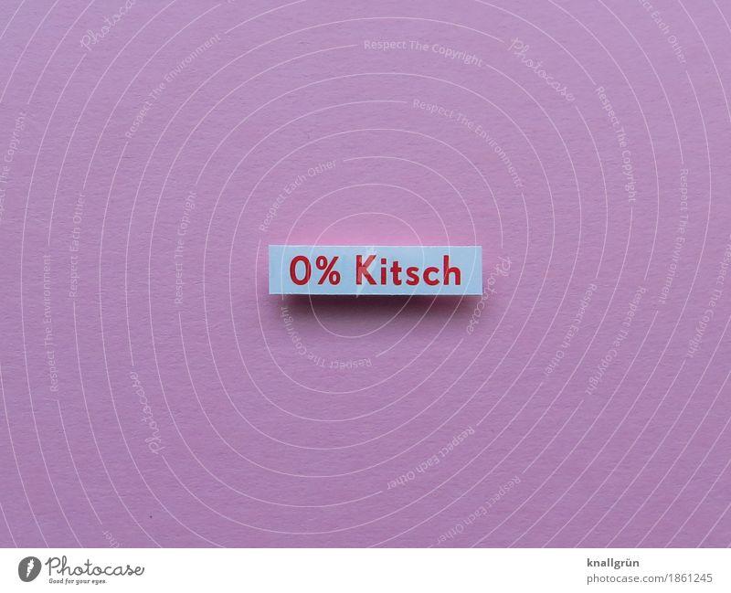 0% Kitsch Schriftzeichen Schilder & Markierungen Kommunizieren eckig rosa rot weiß Gefühle Neugier Design Kreativität Kunst Prozentzeichen Farbfoto