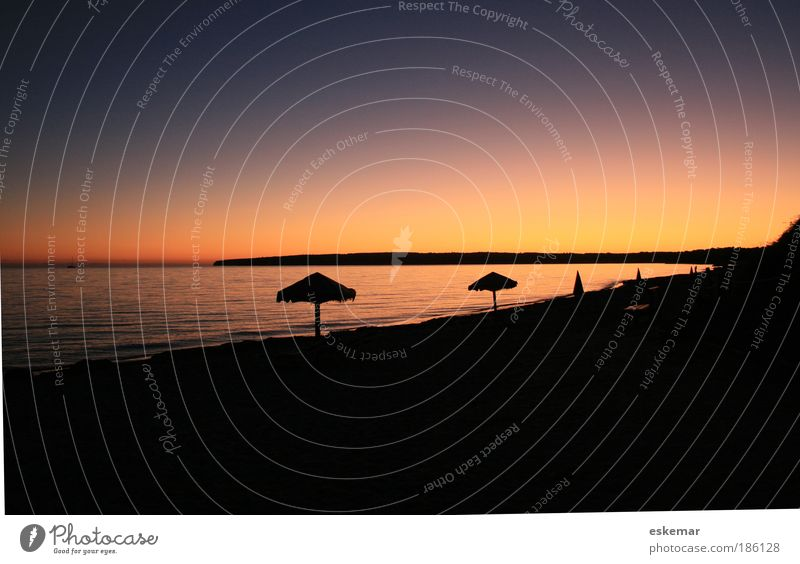 Formentera Migjorn sunset Ferien & Urlaub & Reisen Tourismus Freiheit Sommer Sommerurlaub Sonne Strand Meer Insel Wellen Natur Landschaft Sonnenaufgang