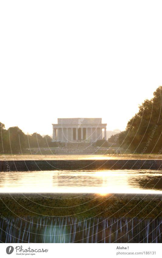 Would Abraham sees ... Wasser Sonne Ferien & Urlaub & Reisen Sommer Wand Architektur Gebäude Stein Mauer Park gold elegant glänzend nass frei