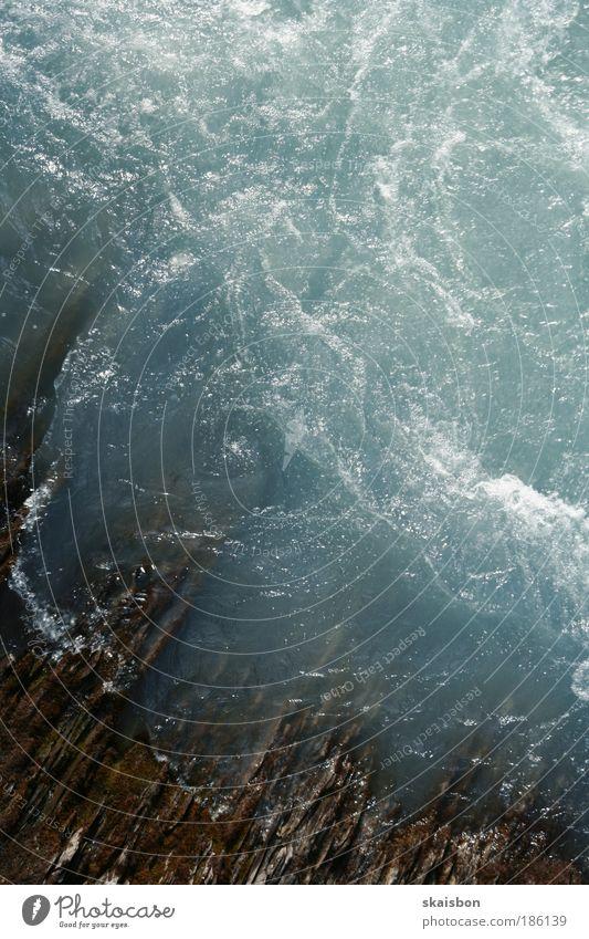 gletscherwasser Natur blau Wasser Umwelt Bewegung Wellen Hintergrundbild natürlich frisch ästhetisch Fluss Urelemente rein Flussufer Gischt Wassermassen