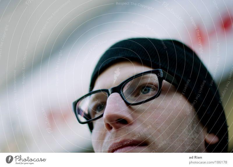 five Mensch Jugendliche Mann Junger Mann Gesicht Erwachsene Auge Leben natürlich Denken Kopf träumen maskulin Zufriedenheit Fröhlichkeit Zukunft