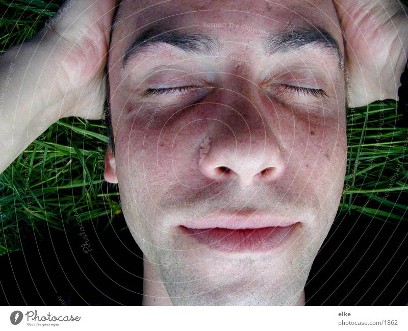 imgras2 Mensch Mann Gesicht Gras
