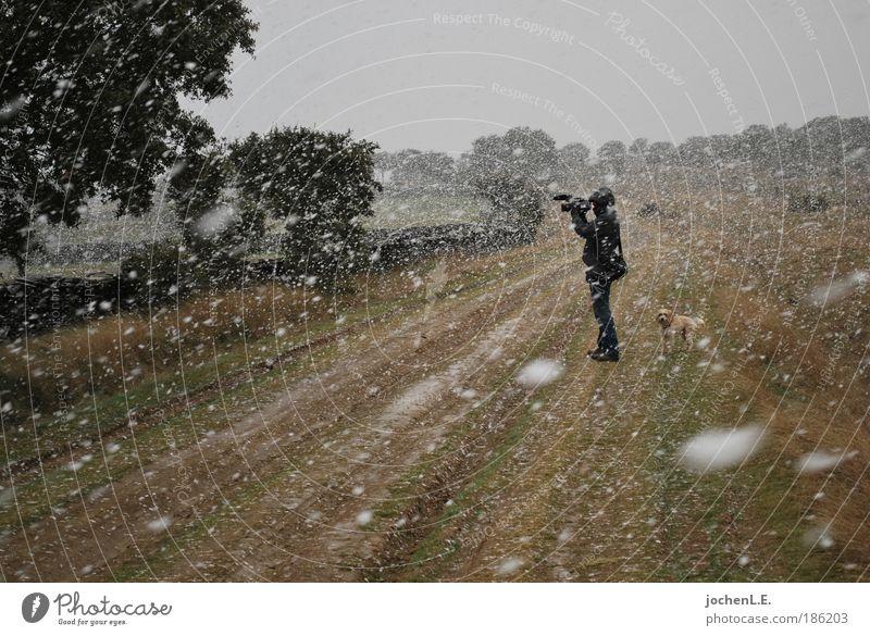 kevins cam in snow Mensch Natur Ferien & Urlaub & Reisen Schnee Wege & Pfade Wind wandern Abenteuer Kreativität Sturm drehen Videokamera Schutzbekleidung