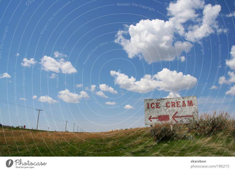 the prairies Natur Himmel blau Sommer Ferien & Urlaub & Reisen Wolken Ernährung Ferne Wiese Landschaft Luft Weitwinkel Stimmung Feld Schilder & Markierungen