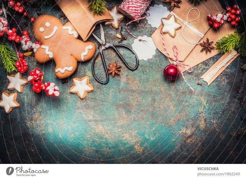 Weihnachtsgeschenke verpacken Weihnachten & Advent Freude Stil Lebensmittel Feste & Feiern Stimmung Design Häusliches Leben Ernährung Dekoration & Verzierung