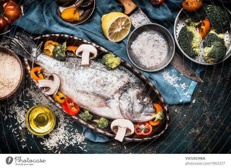 Fischgerichte Kochen Zubereitung mit Dorado Gesunde Ernährung Leben Gesundheit Stil Lebensmittel Design Tisch Kräuter & Gewürze Küche Gemüse Bioprodukte