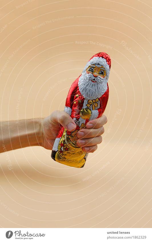 AKDR# Ach Guck! Kunst Kunstwerk ästhetisch Weihnachtsmann Weihnachten & Advent Postkarte Weihnachtsgeschenk Konsum konsumgeil festhalten