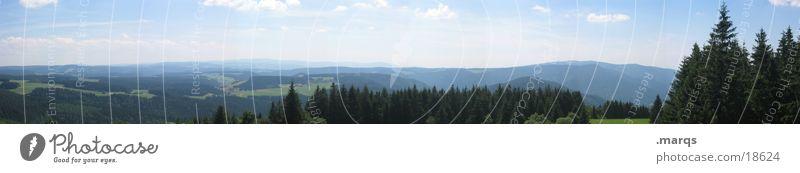 Black Forest Weitwinkel Wald Wiese Panorama (Aussicht) Schwarzwald Tal Sommer Hügel Horizont Berge u. Gebirge Deutschland Weide Himmel marqs groß