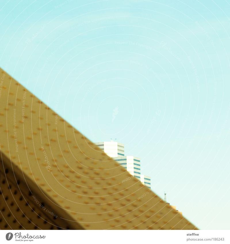 stahlhart schön Himmel Stadt Haus Hochhaus Brücke USA Stahl Skyline Schönes Wetter graphisch Noppe Wolkenloser Himmel