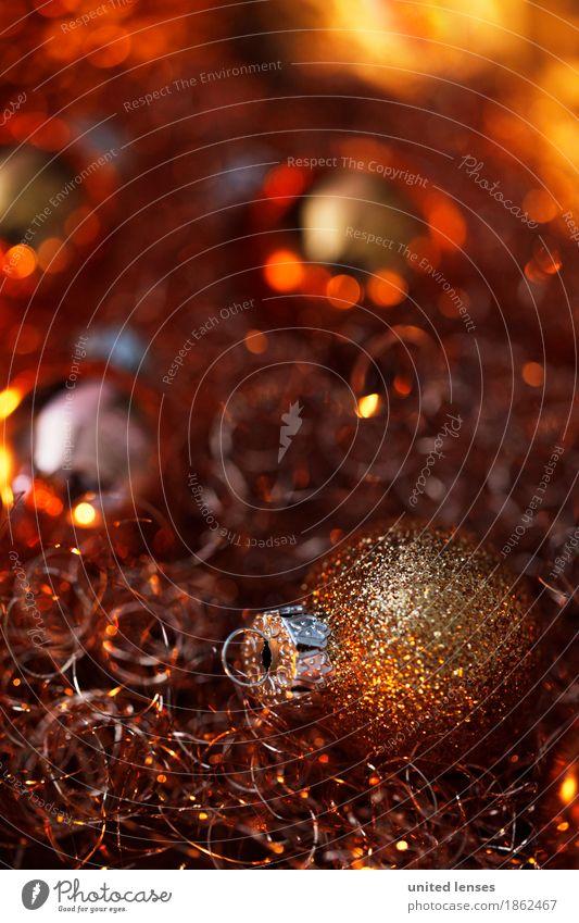 AKCGDR# Lichteln 4 Kunst Kunstwerk ästhetisch Weihnachten & Advent Postkarte Christbaumkugel gold Vorfreude Dekoration & Verzierung Farbfoto mehrfarbig