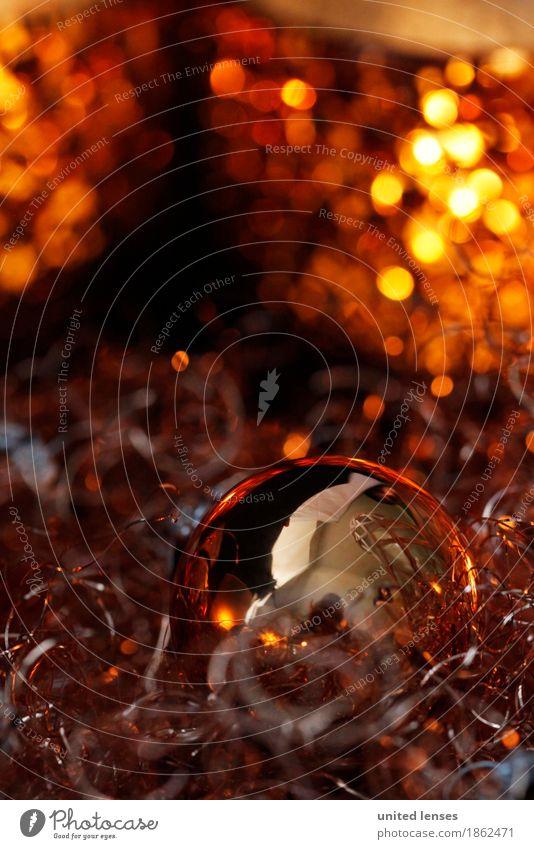 AKCGDR# Lichteln 2 Kunst Kunstwerk ästhetisch Weihnachten & Advent Adventskranz gold Vorfreude Kugel Christbaumkugel Postkarte Farbfoto mehrfarbig Innenaufnahme