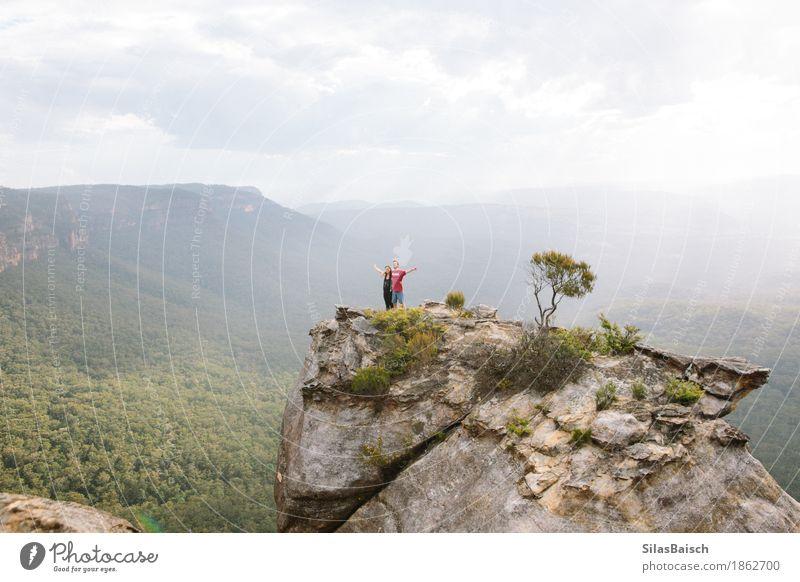 Wandern in Australien Mensch Natur Ferien & Urlaub & Reisen Landschaft Freude Ferne Berge u. Gebirge Leben Lifestyle Freiheit Felsen Freundschaft Ausflug
