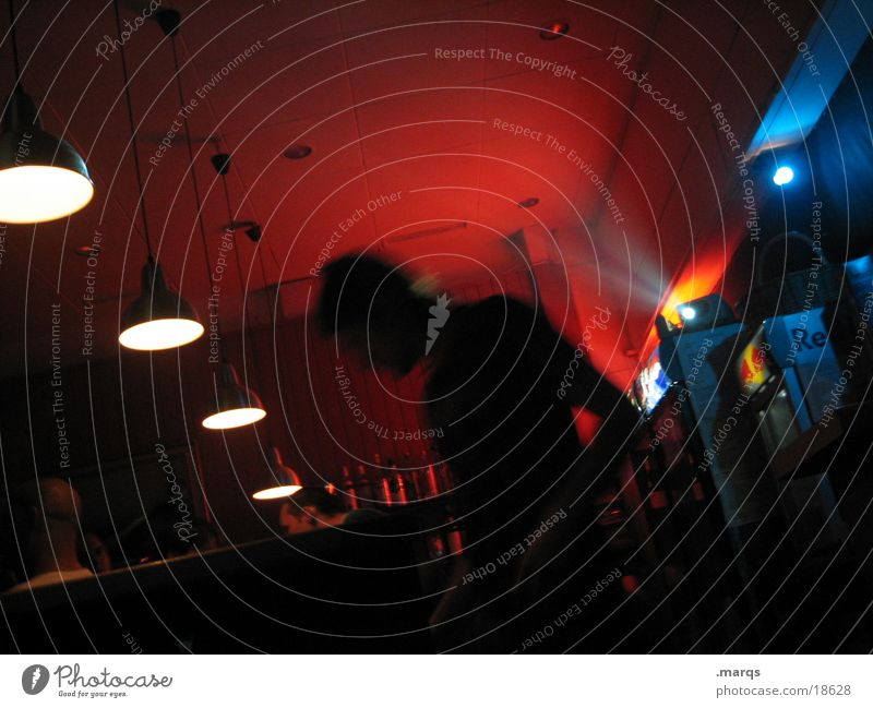 #79 blau rot Lampe Bar Cocktail Alkohol Fototechnik Projektor Wirt Beamer