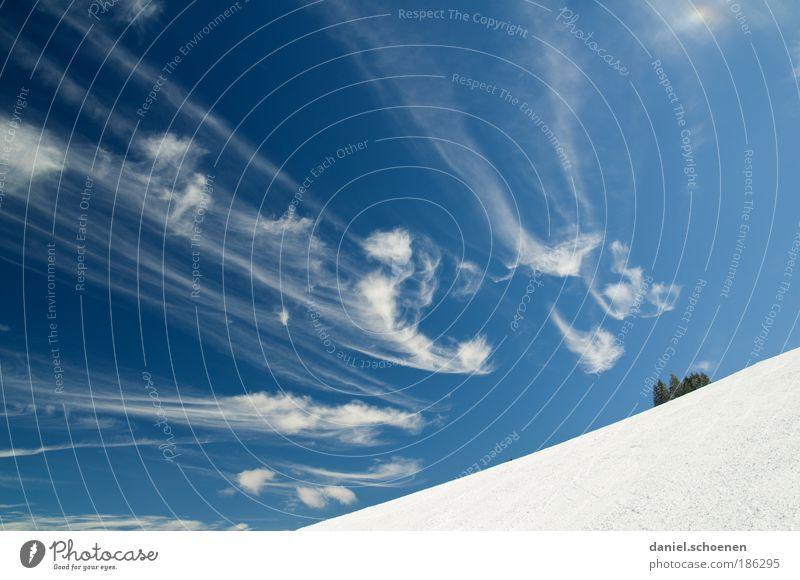 Stollenbach Himmel Natur blau weiß Winter Wolken Umwelt Schnee Wetter Klima außergewöhnlich Schönes Wetter Wintersport Schwarzwald Baden-Württemberg